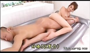 Oiled up Chinese babe